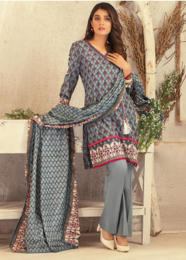Rangreza Printed Lawn Unstitched 3 Piece Suit RR20PL-15 - Summer Collection