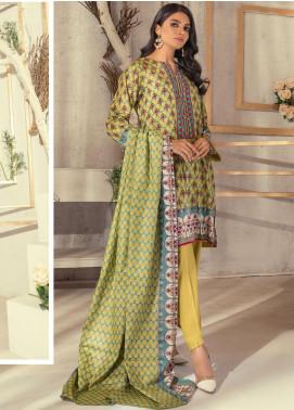 Rangreza Printed Lawn Unstitched 3 Piece Suit RR20PL-3 - Summer Collection