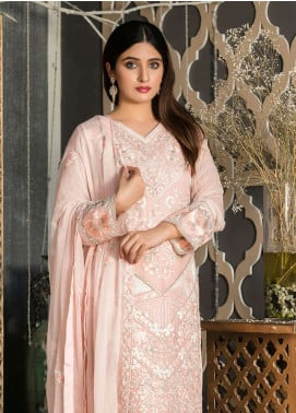 Rani Manan Embroidered Chiffon Unstitched 3 Piece Suit RMA18C 03 - Luxury Collection