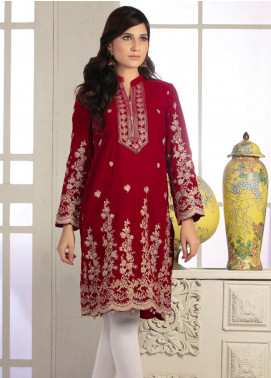 Rani Manan Embroidered Velvet Unstitched Kurties RM18-V2 04 - Winter Collection