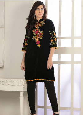 Rani Manan Embroidered Velvet Unstitched Kurties RM18-V2 05 - Winter Collection