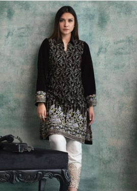 Rani Manan Embroidered Velvet Unstitched Kurties RM18-V3 03 - Winter Collection