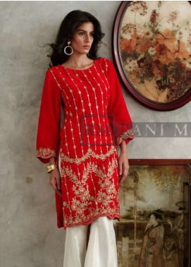 Rani Manan Embroidered Velvet Unstitched Kurties RM18V 03 - Luxury Collection