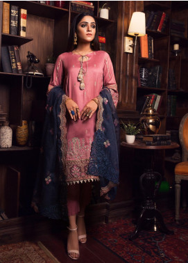 Rashq by Resham Ghar Embroidered Cotton Net Unstitched 3 Piece Suit RG21R 01 - Luxury Collection