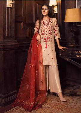 Rashq by Resham Ghar Embroidered Missouri Unstitched 3 Piece Suit RG21R 04 - Luxury Collection