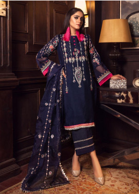 Rashq by Resham Ghar Embroidered Cotton Net Unstitched 3 Piece Suit RG21R 06 - Luxury Collection