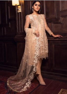 Rashq by Resham Ghar Embroidered Net Unstitched 3 Piece Suit RG21R 07 - Luxury Collection