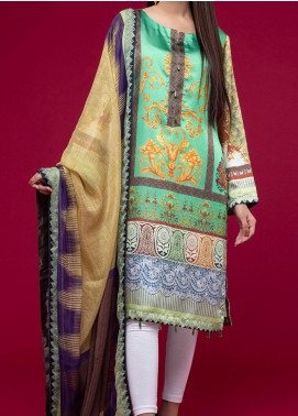Ravishing by ZS Textiles Printed Charmeuse Silk Unstitched 2 Piece Suit ZS20CS 01 - Winter Collection