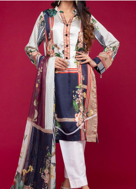 Ravishing by ZS Textiles Printed Charmeuse Silk Unstitched 2 Piece Suit ZS20CS 02 - Winter Collection