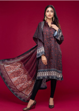 Ravishing by ZS Textiles Printed Charmeuse Silk Unstitched 2 Piece Suit ZS20CS 06 - Winter Collection