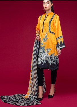 Ravishing by ZS Textiles Printed Charmeuse Silk Unstitched 2 Piece Suit ZS20CS 09 - Winter Collection