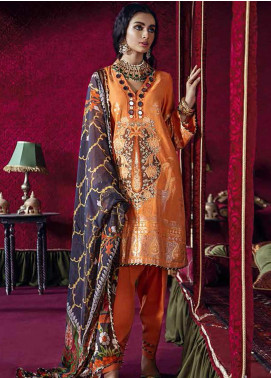 Razia Sultana by Cross Stitch Embroidered Jacquard Unstitched 3 Piece Suit CS20RS 02 SARA E HERAT-B - Eid Collection