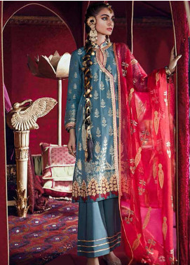 Razia Sultana by Cross Stitch Embroidered Jacquard Unstitched 3 Piece Suit CS20RS 08 BAAD E CHAMAN-B - Eid Collection