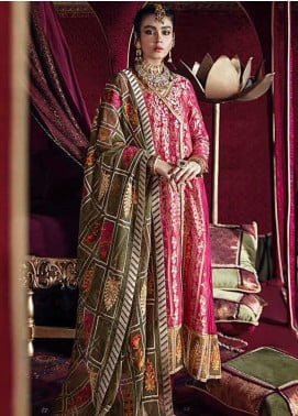 Razia Sultana by Cross Stitch Embroidered Jacquard Unstitched 3 Piece Suit CS20RS 19 DEEWAN E KHAS-A - Eid Collection