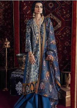 Razia Sultana by Cross Stitch Embroidered Jacquard Unstitched 3 Piece Suit CS20RS 20 DEEWAN E KHAS-B - Eid Collection