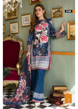 Rabea By Shariq Textiles Embroidered Lawn Unstitched 3 Piece Suit RB17E 4B
