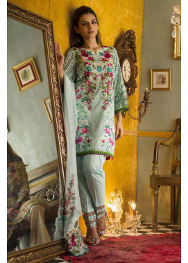 Rabea By Shariq Textiles Embroidered Lawn Unstitched 3 Piece Suit RB17E 5B