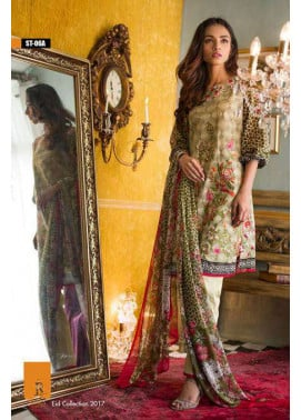Rabea By Shariq Textiles Embroidered Lawn Unstitched 3 Piece Suit RB17E 6A