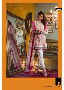 Rabea By Shariq Textiles Embroidered Lawn Unstitched 3 Piece Suit RB17E 6B