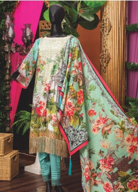 Rabia's Textiles Embroidered Lawn Unstitched 3 Piece Suit RBA18L 01 - Festive Collection
