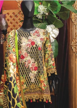 Rabia's Textiles Embroidered Lawn Unstitched 3 Piece Suit RBA18L 02 - Festive Collection