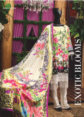Rabia's Textiles Embroidered Lawn Unstitched 3 Piece Suit RBA18L 03 - Festive Collection