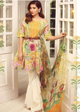 Rouche Embroidered Lawn Unstitched 3 Piece Suit RCH18L 05 - Spring / Summer Collection