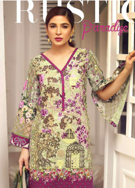 Rouche Embroidered Lawn Unstitched 3 Piece Suit RCH18L 08 - Spring / Summer Collection