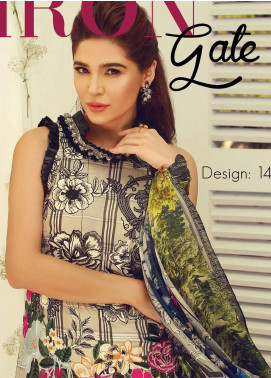 Rouche Embroidered Lawn Unstitched 3 Piece Suit RCH18L 14 - Spring / Summer Collection