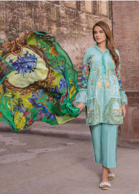 Rani Emaan Embroidered Lawn Unstitched 3 Piece Suit RE18L 06 - Festive Collection