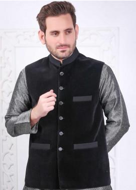 Real Image Corduroy Plain Waistcoats for Men -  RI21CW W-67 Black L