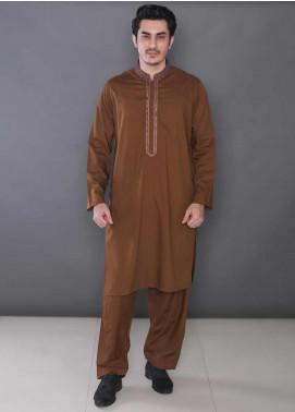 Real Image Wash N Wear Formal Kameez Shalwar for Men -  165 Copper