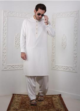 Real Image Wash N Wear Casual Men Kameez Shalwar -  RI20SK D-434 Off White
