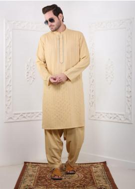 Real Image Wash N Wear Casual Kameez Shalwar for Men -  RI20SK D-436 Golden