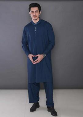 Real Image Wash N Wear Formal Kameez Shalwar for Men -  366 Blue