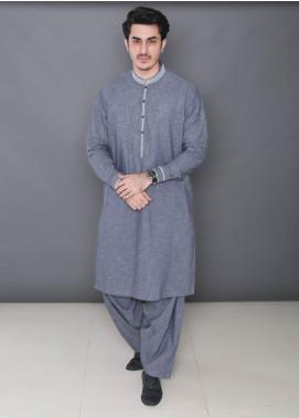 Real Image Wash N Wear Formal Kameez Shalwar for Men -  373 Grey