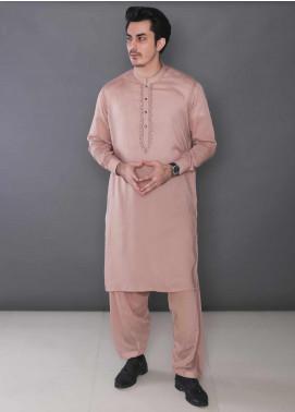 Real Image Wash N Wear Formal Men Kameez Shalwar - 378 Brown