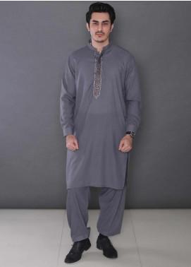 Real Image Wash N Wear Formal Kameez Shalwar for Men -  385 Grey