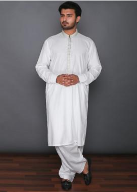Real Image Cotton Formal Men Kameez Shalwar -  D-322 Off White