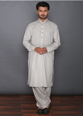 Real Image Cotton Formal Kameez Shalwar for Men -  D-388 Fawn