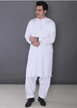 Real Image Wash N Wear Formal Kameez Shalwar for Men -  P-10 White