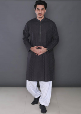 Real Image Cotton Formal Men Kurtas -  363 Grey