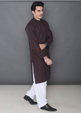 Real Image Cotton Formal Kurtas for Men -  363 Maroon