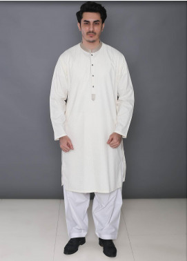 Real Image Cotton Formal Men Kurtas -  393 Cream