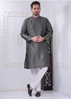 Real Image Jamawar Casual Kurtas for Men -  RI20WM D-121 D-Grey