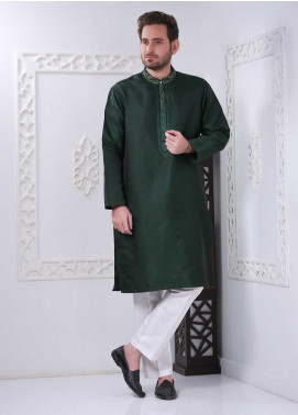 Real Image Jamawar Casual Men Kurtas -  RI20WM D-1391 Green