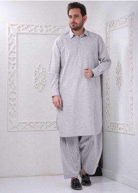 Real Image Wash N Wear Casual Men Kameez Shalwar -  RI20WM P-33 Silver