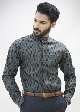 Red Tree Cotton Casual Men Shirts - Grey RT3056