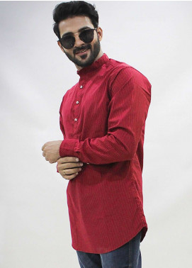 Red Tree Cotton Casual Men Shirts - Red RT3059