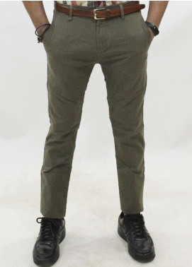 Red Tree Cotton Chino Pants for Men - Olive RT5001